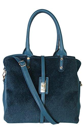 Handbag PU Womens Leather Triple OM Compartments 6xCF0p1Fr3 Teal Rimen 2472 amp; Zipper Closure Tote 6HwqZSxtvn