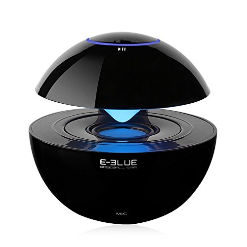 E-3LUE Portable Bluetooth Speakers with LED light and Built-in Mic for Hands-Free Calling,3.5mm Line-In,Micro TF Card Support,mini wireless speaker for Computer, Laptops, Cell Phones (Black)