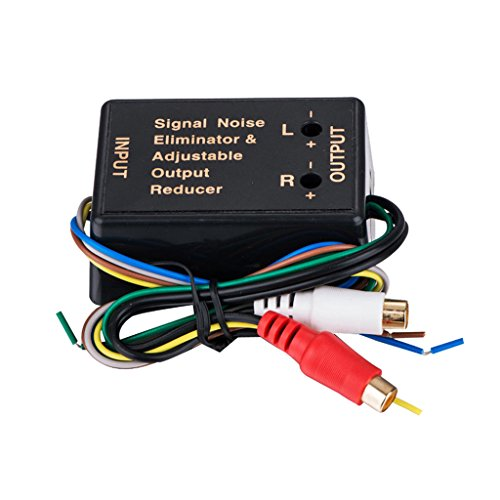 Homyl Universal Car Audio Adapter Hi/Lo Level Converter Output to RCA for Home by Homyl