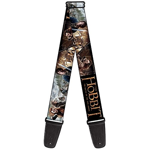Buckle-Down Guitar Strap - THE HOBBIT-THE BATTLE OF THE FIVE ARMIES Character Scenes- 2