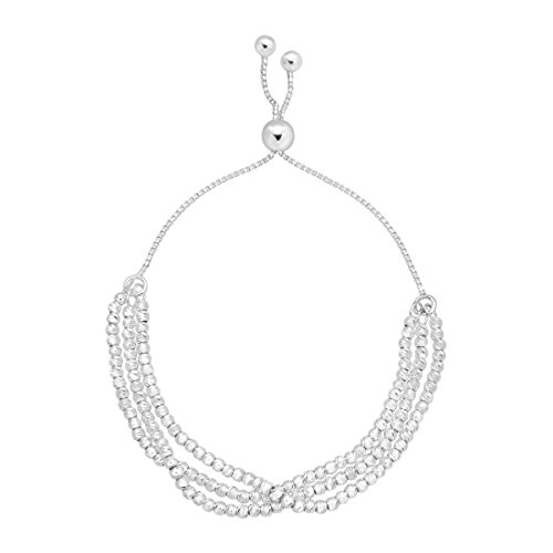 Silpada 'Valentina' Multi-Strand Adjustable Bolo Chain Bracelet in Sterling Silver