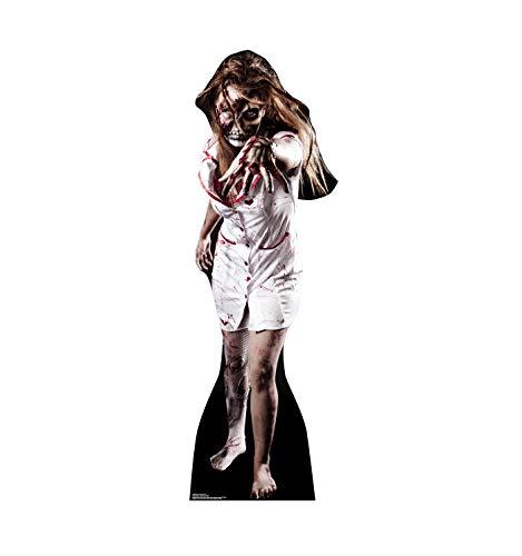 Advanced Graphics Skeleton Zombie Nurse Life Size Cardboard