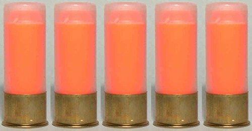 ST Action Pro Pro Pack Of 5 Inert 12 GA 12GA Gauge Shotgun Orange Safety Trainer Cartridge Dummy Ammunition Ammo Shell Rounds with Brass Case