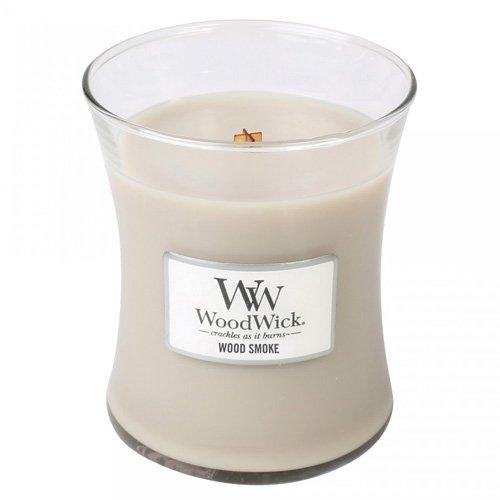 WOOD SMOKE - WoodWick 9.7oz Medium Jar Candle Burns 100 Hours