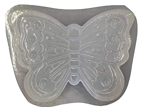 Large Butterfly Shaped Stepping Stone Concrete Plaster Mold ()