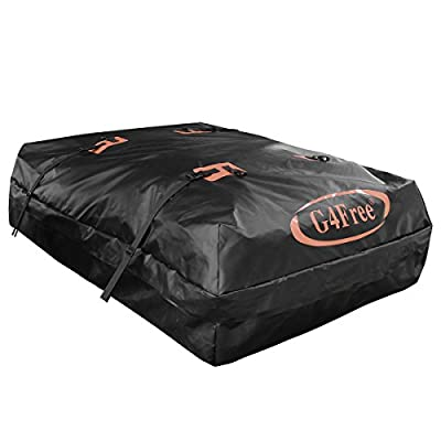 G4Free 18.5/15.5 Cubic Feet Car Top Carrier, Easy to Install Soft Roof Top Cargo Bag with Wide Straps-Works With or Without Roof Rack