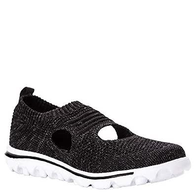 Propét Women's TravelActiv Avid Sneaker, Black