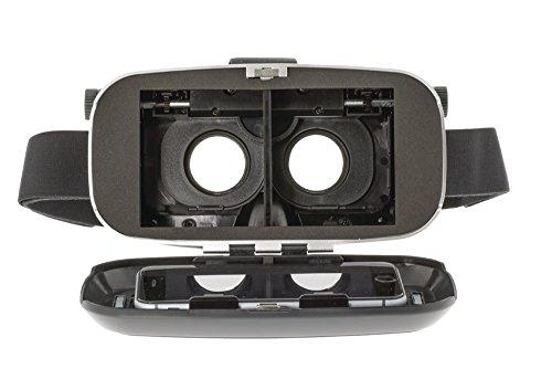 Premium VR Brille Virtual Reality Headset 4fach einstellbare Linsen mit 3D 360 VR Gläser Glasses für Apple iPhone 5 6 7 s + & Android Smartphone zb für Samsung Huawei Cubot LG etc. Cardboard