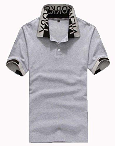 Heaven Days(ヘブンデイズ) ポロシャツ ゴルフシャツ バイカラー スタンドネック 立襟 シンプル 半袖 メンズ 1707G0300