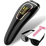 Beamia Upgraded IPL Permanent Hair Removal System Painless 999,999 Flashes Facial Whole Body At-Home Hair Remover Device for Women Men