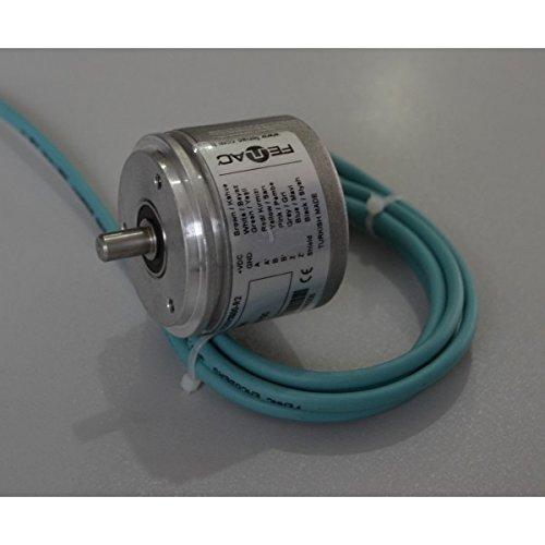 2m Cable Servo Flange 6 Channel 1250PPR 10mm Solid Shaft 5-30V in//Out Fenac FNC 58S 10630V1250-R2 Incremental Encoder 58mm Body Diameter
