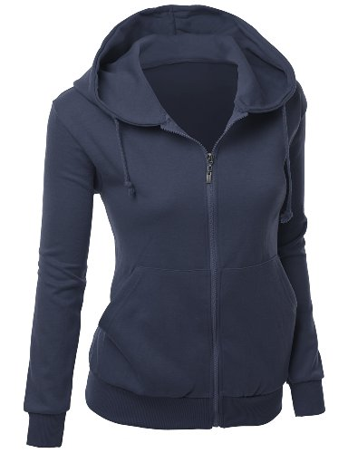 (Women's Charged Cotton Full Zip Hoodie NAVY L)
