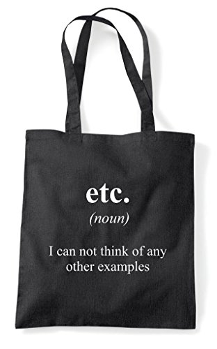 The Etc Bag Not Tote Funny Shopper In Definition Black Dictionary Alternative 8rOqXwnr