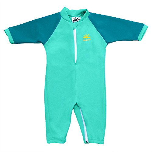 Fiji Sun Protective UPF 50+ Baby Swimsuit by Nozone in Aquatic/Teal, 0-6 months