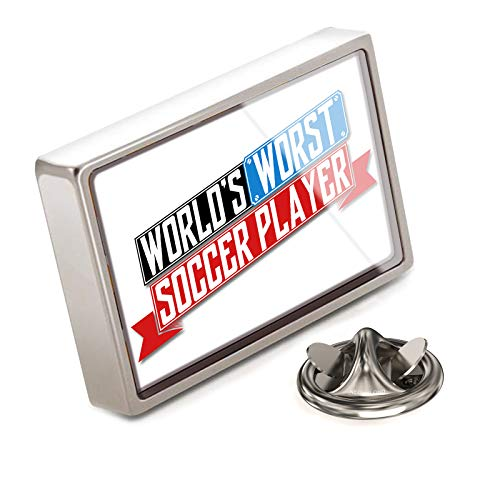 NEONBLOND Lapel Pin Funny Worlds Worst Soccer Player