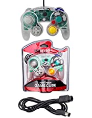 Crystal Controller and 6ft Extension Cable Set –Compatible with Nintendo Gamecube, Switch, Wii U and PC by EVORETRO