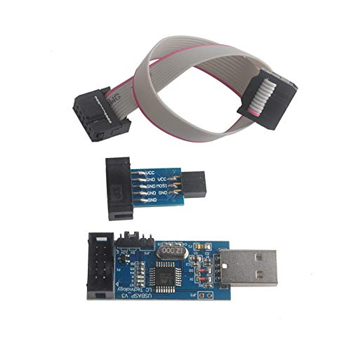 Geekstory for ATMEL 51 AVR USB ISP ASP Microcontroller Programmer Downloader with Cable + 10Pin to 6Pin Adapter - Avr Programmer