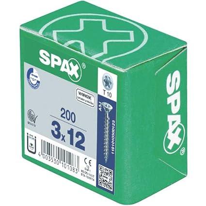 WIROX A3J 5,0 x 30 mm T-STAR plus Senkkopf SPAX Universalschraube Teilgewinde 0191010500303 4CUT 200 St/ück