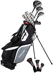 Precise M5 Men's Complete Golf Clubs Package Set Includes Titanium Driver, S.S. Fairway, S.S. Hybrid, S.S.