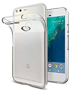 Spigen Liquid Crystal Google Pixel Case with Slim Protection and Premium Clarity for Google Pixel 2016 - Crystal Clear