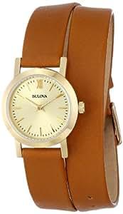 Bulova Women's 97L135 Analog Display Japanese Quartz Brown Watch
