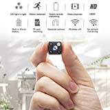 Mini Hidden Spy Camera Wireless Camera HD 1080P Camera Portable Home Security Cameras Covert Small Indoor Video Recorder Motion Detection Night Vision Remote View with Cell Phone