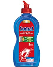 Somat Rinser + Drying Booster (500mL), Dishwashing Rinse Aid for Shiny and Dry Dishes, Additive to Dishwasher Cleaners for Extra Limescale Protection