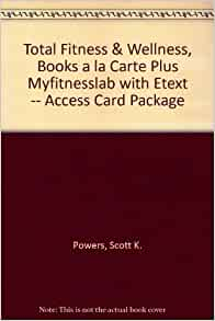 total fitness wellness books a la carte plus myfitnesslab with etext access card package. Black Bedroom Furniture Sets. Home Design Ideas