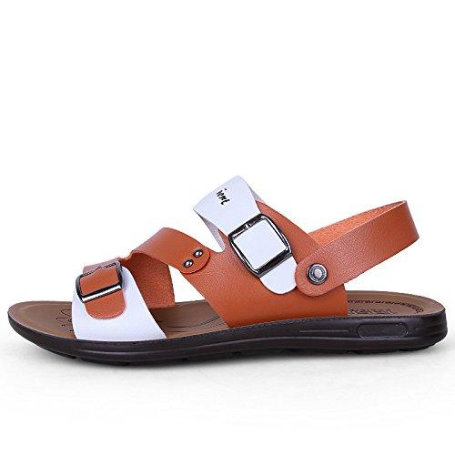 Xing Lin Sandalias De Hombre Zapatos De Verano En La Playa Los Hombres Calzado Casual Sandalias Open Toe Sandalias De Playa Y Zapatillas Casual Hebilla Calzado De Playa Light Brown