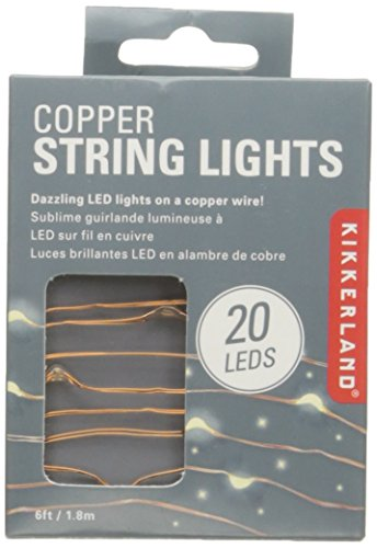 Kikkerland String Lights, Silver