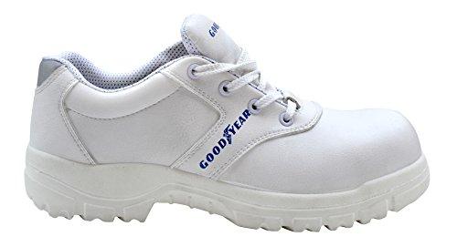 GOODYEAR g1383048C–Scarpe in microfibra, colore: bianco