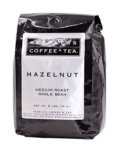 (32oz Hazelnut, Whole Bean Coffee, Medium Roast, by Peerless Coffee & Tea (Pack of 1))