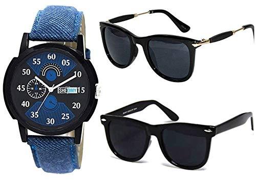 19e5c56a4ea Sheomy Men and Women Sunglasses Combo (Trans-0017