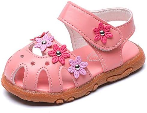 DADAWEN Girls Flower Closed Toe Princess Sandal Toddler//Little Kid