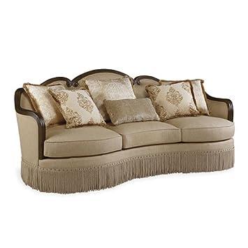 Amazon.com: A.R.T. Furniture Giovanna Caramel Sofa Golden ...