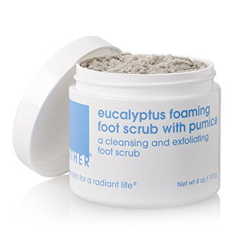 Pumice Gel Shower Citrus - LATHER Eucalyptus Foaming Foot Scrub with Pumice 4 oz - a Clean rinsing, foaming Foot Scrub Developed Specially for The feet