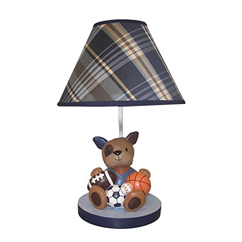 Lambs & Ivy Bow Wow Buddies Lamp with Shade & Bulb - Puppy Dog Sports by Lambs & Ivy