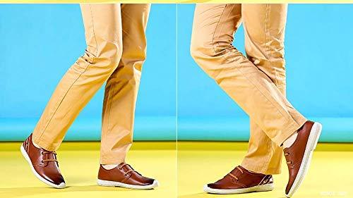 42 mocassini Scarpe Colore da arrotondata punta 42 comode Marrone Misura con da Colore per uomo casual uomo Marrone MARRONE Dimensione in uomo lacci HhGold con pelle pSFwzqxF