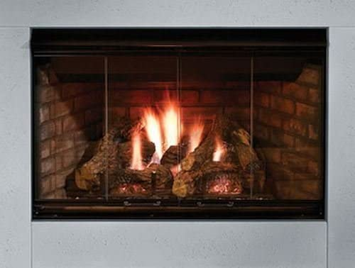 Amazon Com Outdoor Lifestyles Reveal 42 B Vent Gas Fireplace With Traditional Brick Refractory Liner Home Kitchen