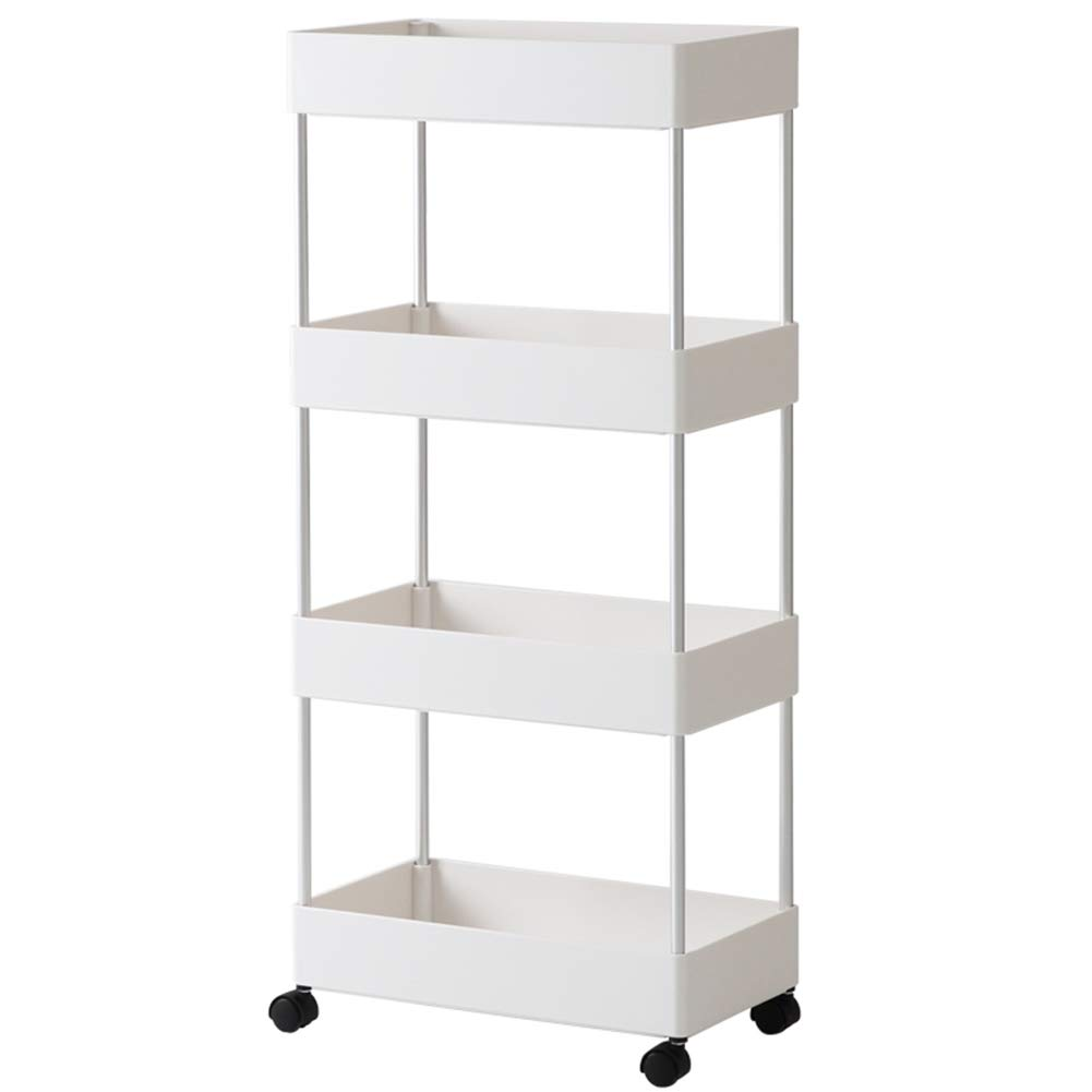 Shelf Storage Racks Pot Rack Storage Basket Shelf Baskets Oven Stand It Can Move Household Multi-Layer Landing Storage Storage Shelf Kitchen ZHAOYONGLI
