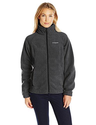 Columbia Women's Petite Benton Springs Full Zip Fleece Jacket - Small - Charcoal Heather
