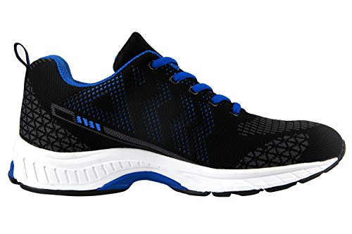 Ilovesia De couleur À Chaussure Bi bleu Pour Sport Noir Homme Lacet wprwq8W5