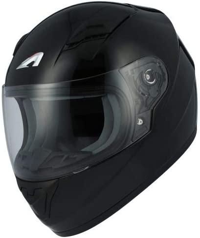 Glossy Black Astone Helmets GT2KM-MBKL Full-Face GT Kid Gloss Motorcycle Helmet