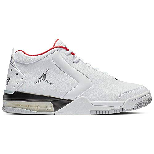 Jordan Nike Men's Big Fund Basketball Shoes (9.5M, White/Red)