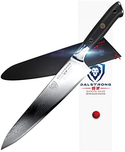 "DALSTRONG Chef Knife - Shogun Series Gyuto - Damascus - Japanese AUS-10V Super Steel - Vacuum Heat Treated - 9.5"" (240mm)"