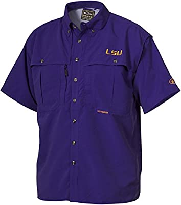 Drake Men's LSU Wingshooter Short Sleeve Shirt