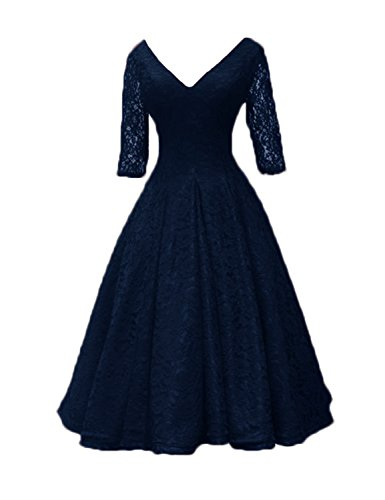 azul mujer marino Vestido Stillluxury para Noche g8Aw4nzq7