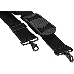 """Made in USA 2""""W x 60""""L Poly Web Replacement Shoulder Luggage Travel Bag Strap Black Metal Hardware"""