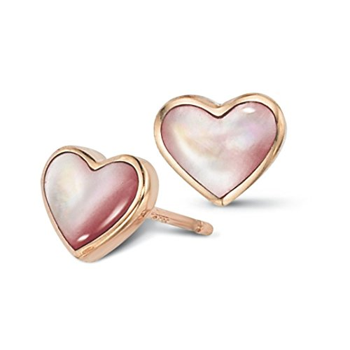 14K Rose Gold Heart Shaped Kabana Pink Mother of Pearl (Kabana Rose Ring)
