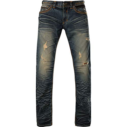 Affliction Blake Fleur Rogue Relaxed Straight Denim 38 (Custom Denim Jacket)